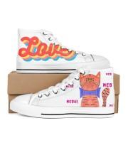 Meow meow meow Men's High Top White Shoes thumbnail