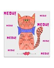 Meow meow meow Square Coaster thumbnail