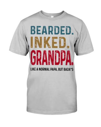Bearded Inked Grandpa Like Normal Dad But Badass