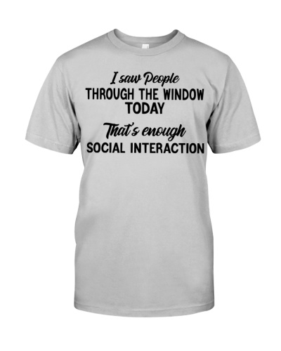 I Saw People Through The Window Today