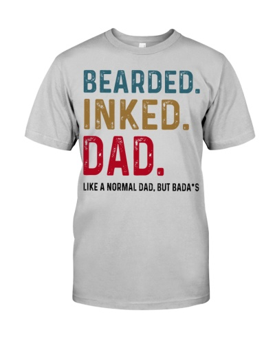 Bearded Inked Dad Like Normal Dad But Badass
