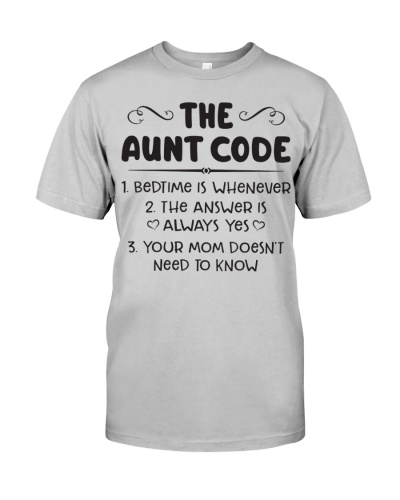 The Aunt code I bedtime is whenever the answer is