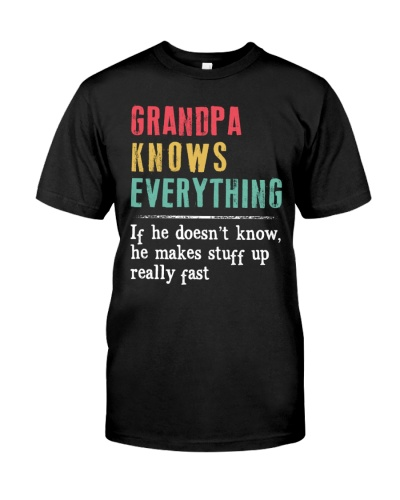 Grandpa knows everything funny gift vintage
