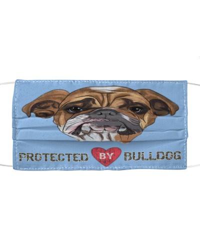 Protected By BullDog Lovers Facemask