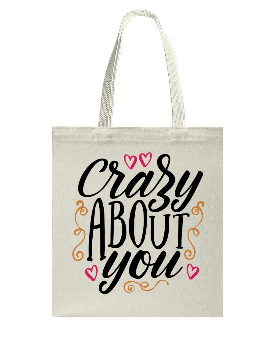 Crazy About You - Valentines Day Tote Bag