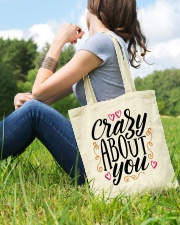Crazy About You - Valentines Day Tote Bag lifestyle-totebag-front-6