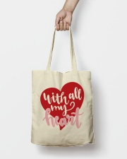 With All My Heart - Valentines Day Tote Bag lifestyle-totebag-front-2