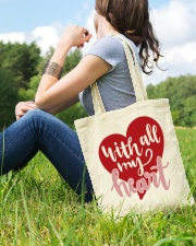 With All My Heart - Valentines Day Tote Bag lifestyle-totebag-front-6