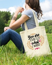 You Are Exactly What I Want - Valentine Tote Bag lifestyle-totebag-front-6