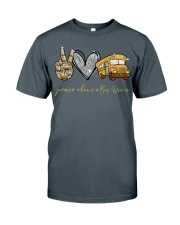 Bus Driver Peace Love Classic T-Shirt front