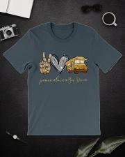Bus Driver Peace Love Classic T-Shirt lifestyle-mens-crewneck-front-16