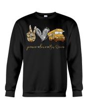 Bus Driver Peace Love Crewneck Sweatshirt thumbnail