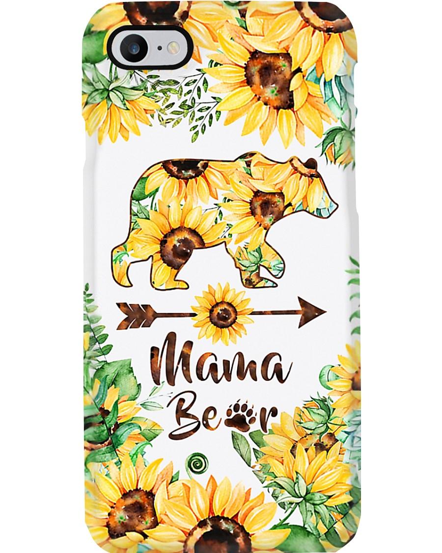Mama Bear Sunflower Phone Case