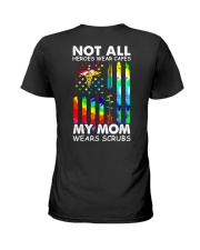 Mom Not All Heros Wear Capes Ladies T-Shirt tile