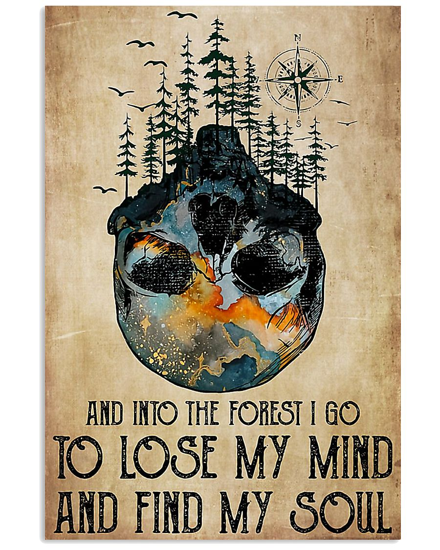 Skull And Into The Forest I Go 11x17 Poster