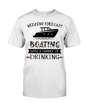 Boat Weekend Forecast Classic T-Shirt tile