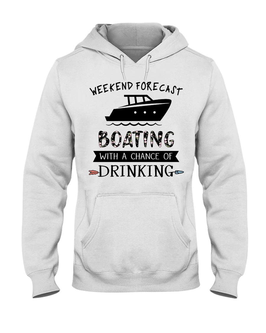 Boat Weekend Forecast Hooded Sweatshirt