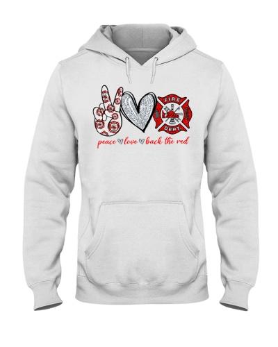 Firefighter Peace Love