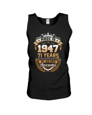 Made in 71 - 1947 years of being awesome Unisex Tank thumbnail