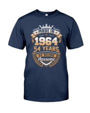 Made in 54 - 1964 years of being awesome Classic T-Shirt front