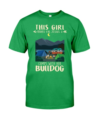 This Girl Run On Jesus And Camps With Her Bulldog