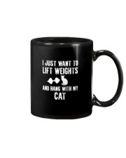 i just want life weight and hang with my cat Mug thumbnail