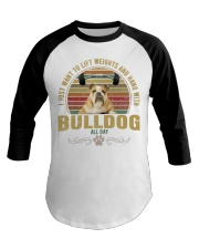 bulldog3 Baseball Tee tile