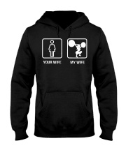 your wife my wife powerlifting Hooded Sweatshirt tile