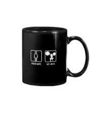 your wife my wife powerlifting Mug tile