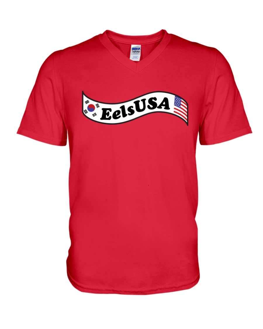 EelsUSA 2018 Banner Campaign V-Neck T-Shirt