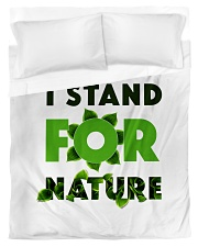 I stand For Nature Duvet Cover - Twin front