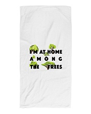 I am at home among the Trees Beach Towel tile