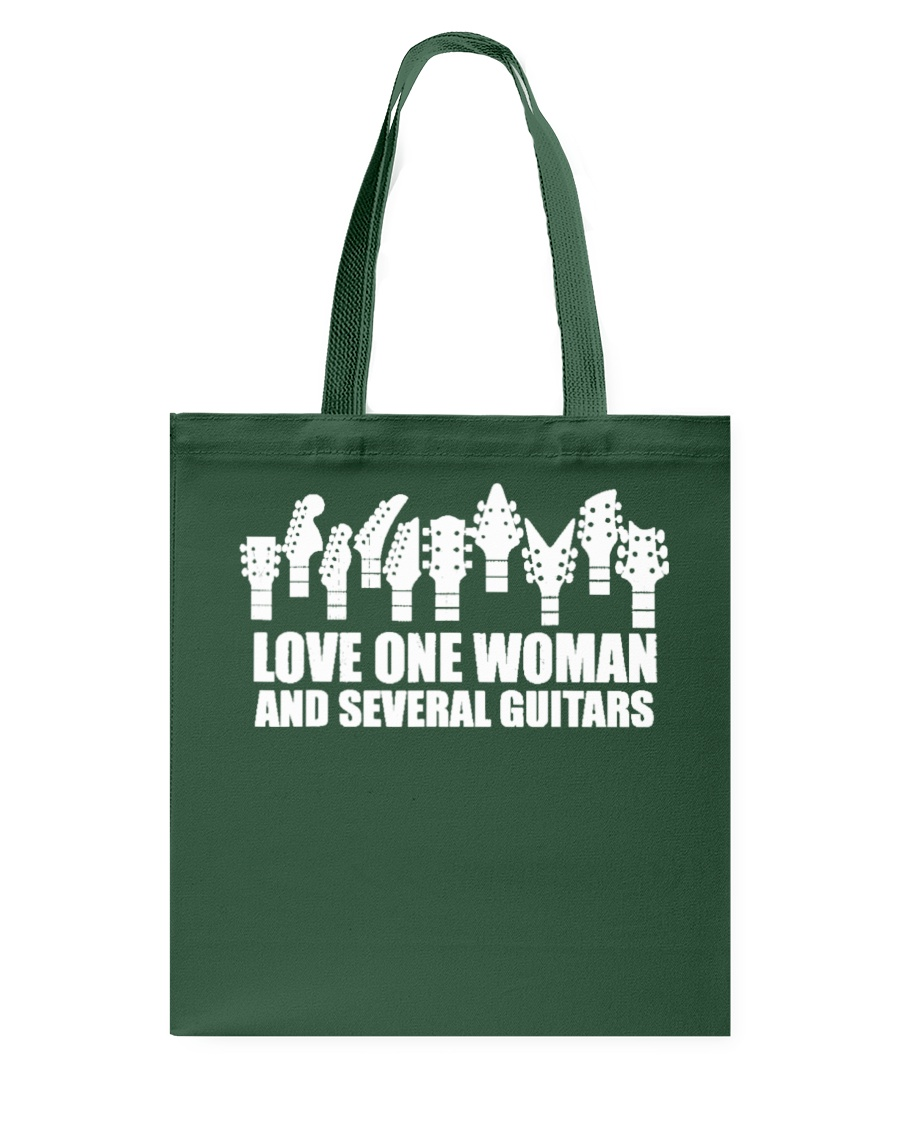 love one woman and several guitars Tote Bag