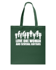 love one woman and several guitars Tote Bag front