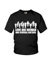 love one woman and several guitars Youth T-Shirt thumbnail