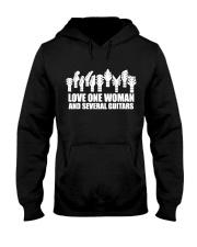 love one woman and several guitars Hooded Sweatshirt thumbnail