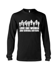love one woman and several guitars Long Sleeve Tee thumbnail
