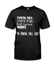 Pumpkin Patch Horror Movie Hot Cocoa Classic T-Shirt thumbnail
