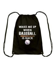Wake Me Up When Baseball Drawstring Bag thumbnail