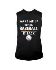 Wake Me Up When Baseball Sleeveless Tee thumbnail