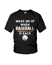 Wake Me Up When Baseball Youth T-Shirt tile