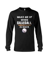 Wake Me Up When Baseball Long Sleeve Tee thumbnail