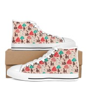 Poodle Shoes Women's High Top White Shoes thumbnail