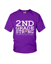 2nd Grade Strong No Matter The Distance Wifi  Youth T-Shirt front