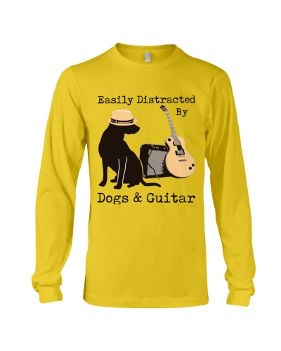 Easily distracted by guitar and dogs