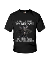 I Really Tried To Behave Dragon Youth T-Shirt thumbnail