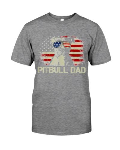 Pitbull Dad Flag Usa Father's Day