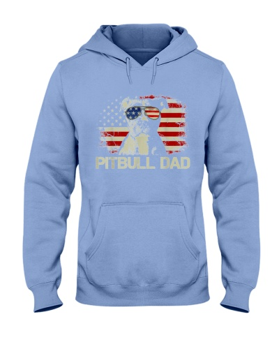 Pitbull Dad Flag Usa Father's Day