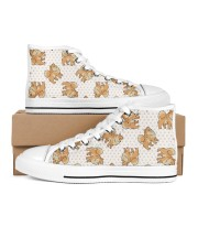 Pomeranian Shoes Women's High Top White Shoes outside-right-inside-right