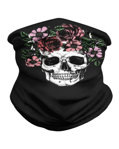 Floral Skull Neck Gaiter - Face Cover